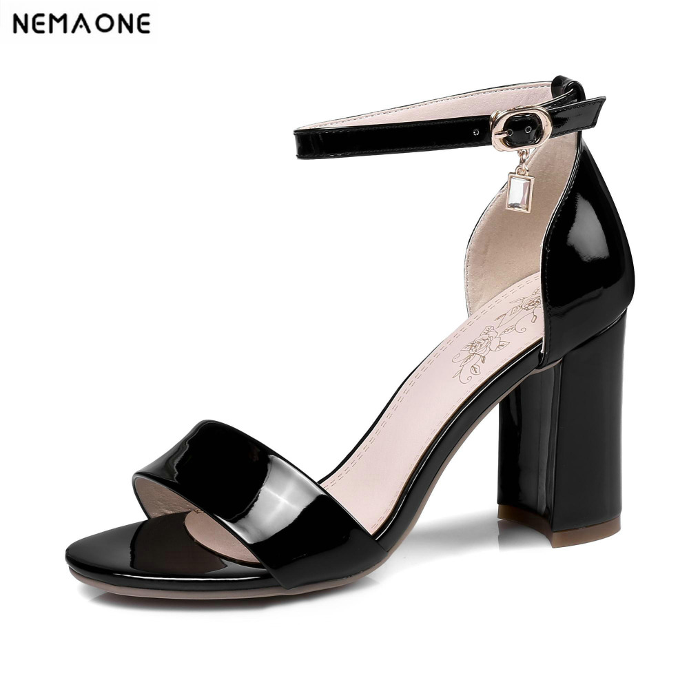 2018 New women sandals thick high heels sandals open toe sandals woman ankle strap women shoes large size 34-43 covibesco nude high heels sandals women ankle strap summer dress shoes woman open toe sandals sexy prom wedding shoes large size