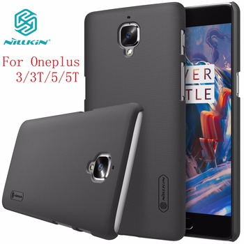 One plus 3 case Oneplus 3 case NILLKIN Super Frosted Shield hard back cover for Oneplus3 Oneplus 3T +free screen protector laptop bag