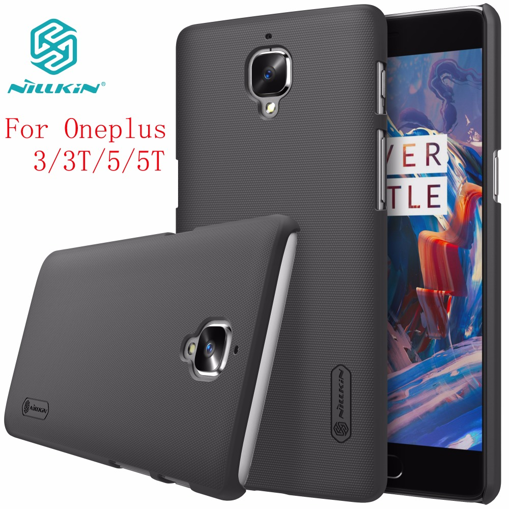 Uno más 3 Caso Oneplus 3 T caso NILLKIN Super Frosted Shield cubierta trasera dura para Oneplus 3 T 5 T