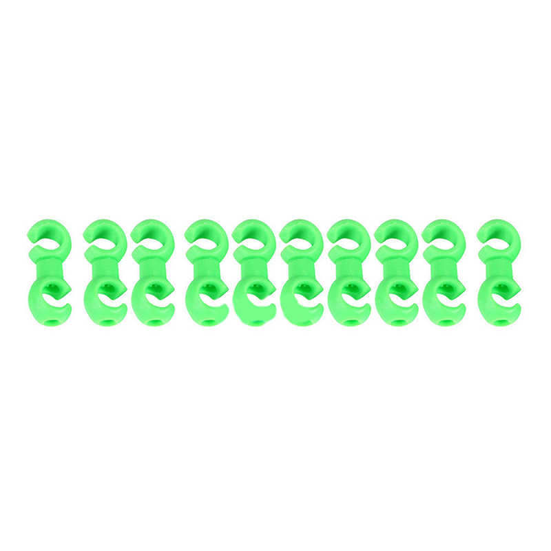 10 x Bike Rotating S Shaped Hook Clips Brake Gear Cross Cable Tidy Buckle Tools