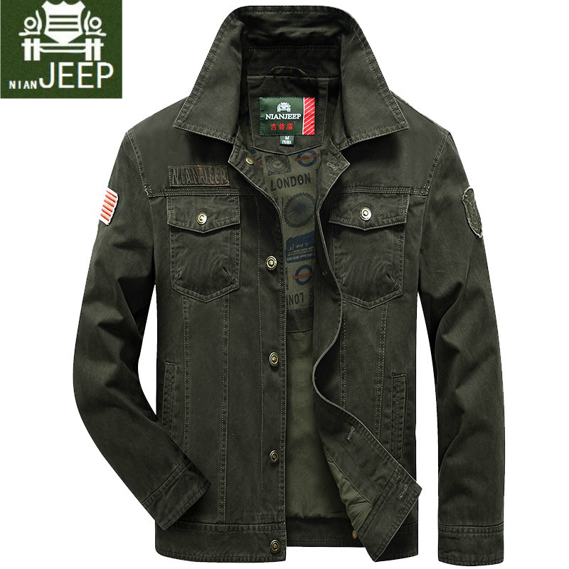Men's autumn spring jacket Tactical Parka Bomber Jacket Male Casual Military Style Army fashion Coat Black khaki green XXXL 4XL-in Jackets from Men's Clothing
