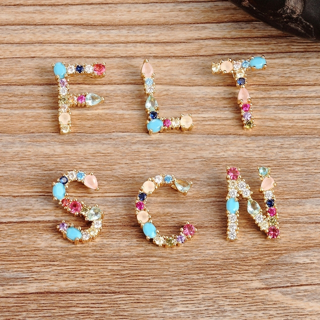 Hot Sale Gold Color Initial CZ Necklace Charm Letter Necklace Name Jewelry For Women Accessories Girlfriend Best Gift 4