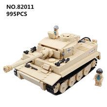 Century Military Tank Cannon Armor Panzerkampfwagen Tiger Building Blocks Model Set Bricks Educational Toys for Children gift
