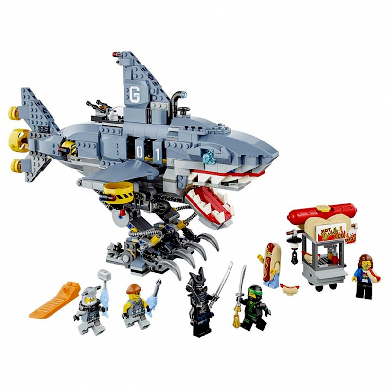 929pcs Diy Model Ninjagoes figures Garmadon Shark Educational Building Blocks Bricks Compatible playmobil Toys For Children Gift enlighten building blocks military submarine model building blocks 382 pcs diy bricks educational playmobil toys for children
