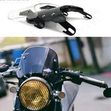 5-7 дюймов мотоцикл ретро Кафе Racer фара лобовое стекло инструмент козырек подходит для Honda Yamaha XJR 1300 Suzuki GSX 1400 Королевский