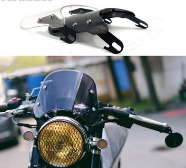 5-7 polegada Motocicleta Retro Cafe Racer Farol Instrumento Brisa Viseira Honda Fit Para Yamaha XJR 1300 Suzuki GSX 1400 Real