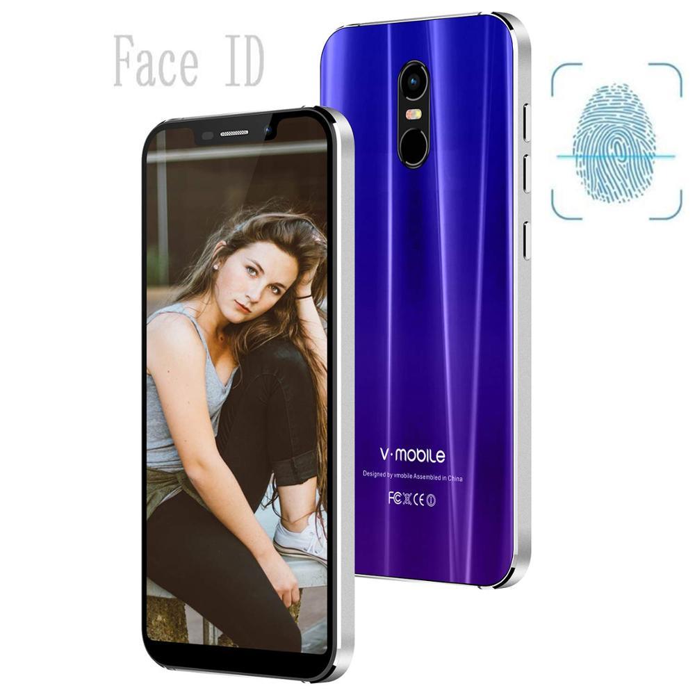 TEENO VMobile 5s mobile phone Android 7.0 5.85 19: 9 HD screen 3GB 32GB 12MP camera 4500mAh fingerprint 4G smart phone cellTEENO VMobile 5s mobile phone Android 7.0 5.85 19: 9 HD screen 3GB 32GB 12MP camera 4500mAh fingerprint 4G smart phone cell