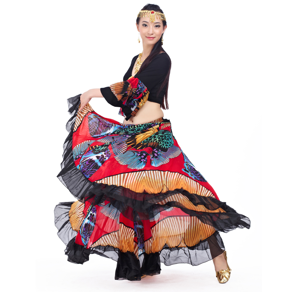 Image 3 - 2018 Newest Top grade gypsy belly dance skirt for women big flowers 2 3 m big skirt 720 degrees-in Belly Dancing from Novelty & Special Use