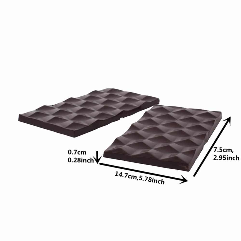 3D Cubos de Policarbonato Barras de Chocolate Molde