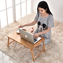 Bamboo folding laptop desk bed with a small table lazy simple desk office desk