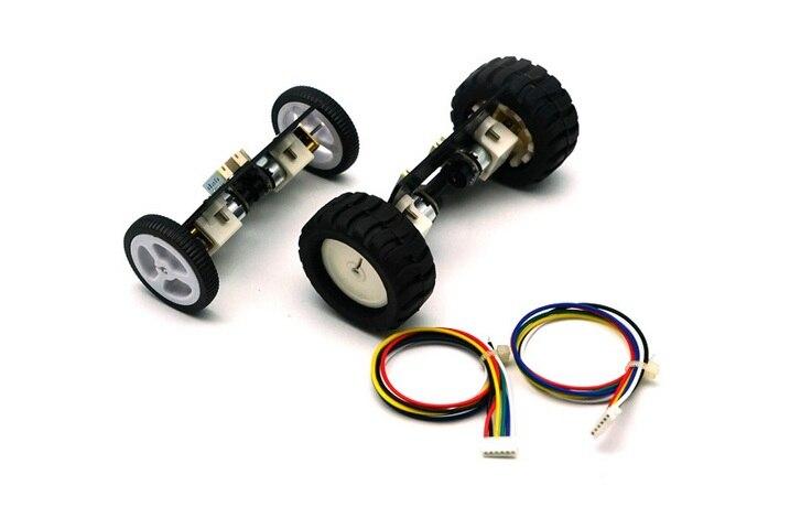 a camera samllest de auto balanceamento chassis do carro 2wd com encoder do motor n20 mini