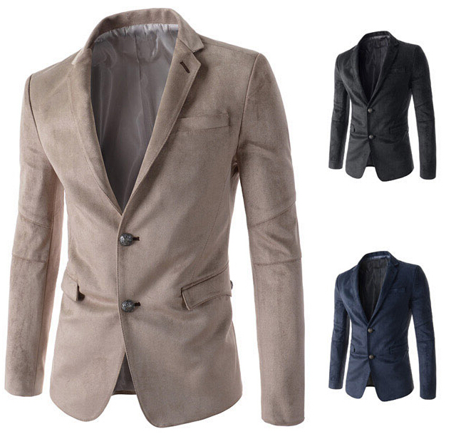 2018 New Arrival Brand Male Blazer Men Suits Jackets Casual Fitness XXL Black Leisure Coats Business Mens Blazers Suit