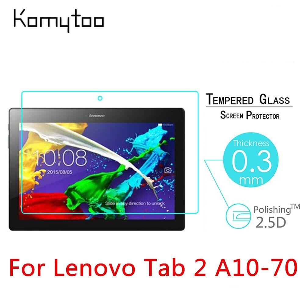 """imágenes para 5 unids 9 H 2.5D Para Lenovo Tab 2 A10-70 A10-70F A10-70LC 10.1 """"A Prueba de Explosiones de Vidrio Templado De Vidrio Templado Cubierta de la Pantalla Protege La película"""