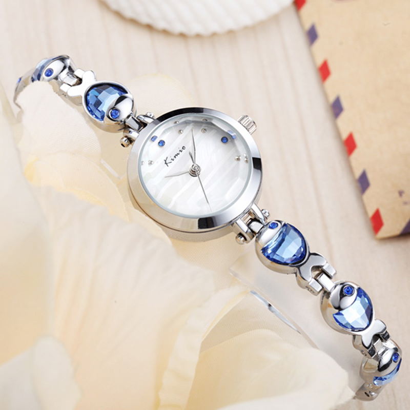 2016 New Arrival Brand KIMIO Women Fine Bracelet Watches Top Casual Fish Shape Band Waterproof Ladies