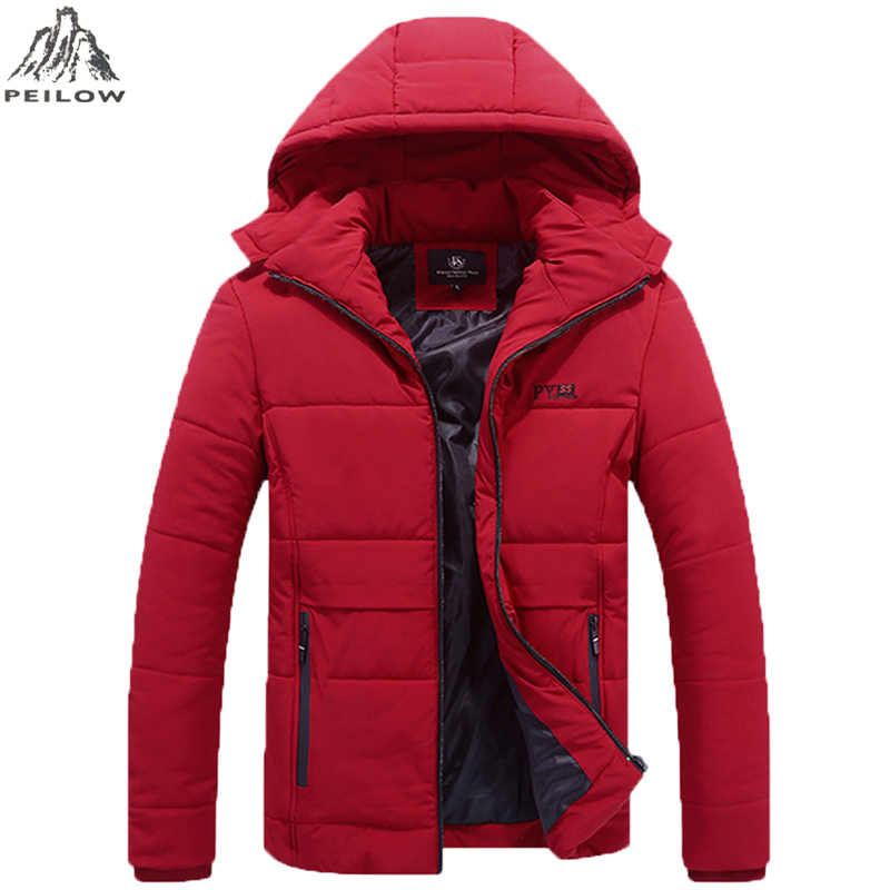 Plus Size 6XL,7XL,8XL Winter Jacket Men Hat Detachable Warm Cotton-Padded Coat Outwear Men`s windbreaker Jackets Hooded