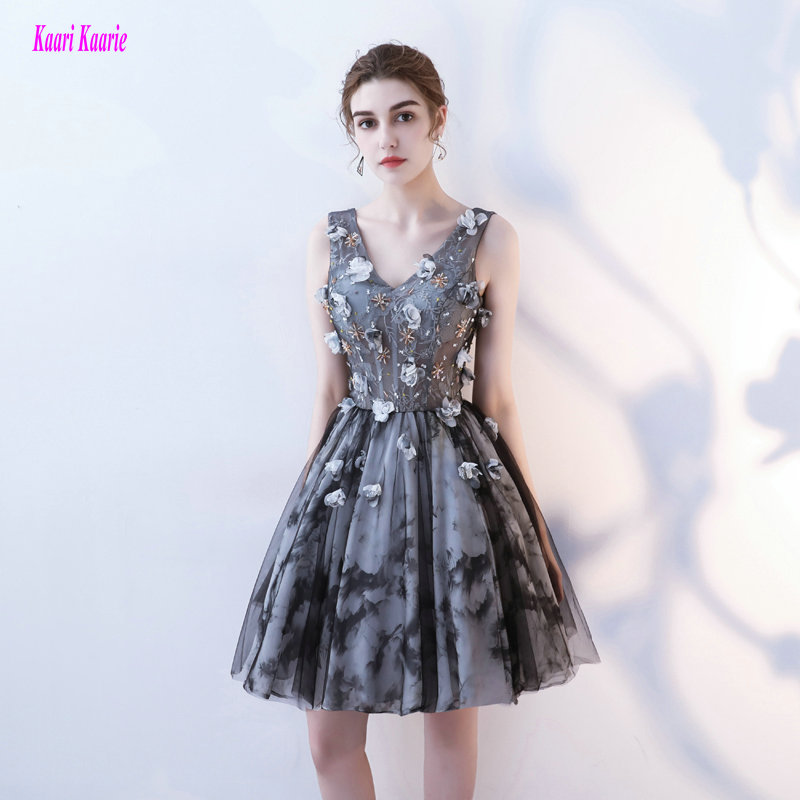 Fashion Plus Size Black Prom Dresses Short New Sexy Porm Gowns