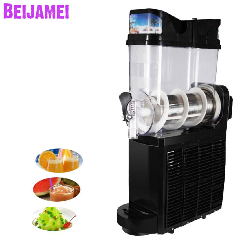 Beijamei one tank commercial slush machines electric snow melting machine sand ice slushy making title=