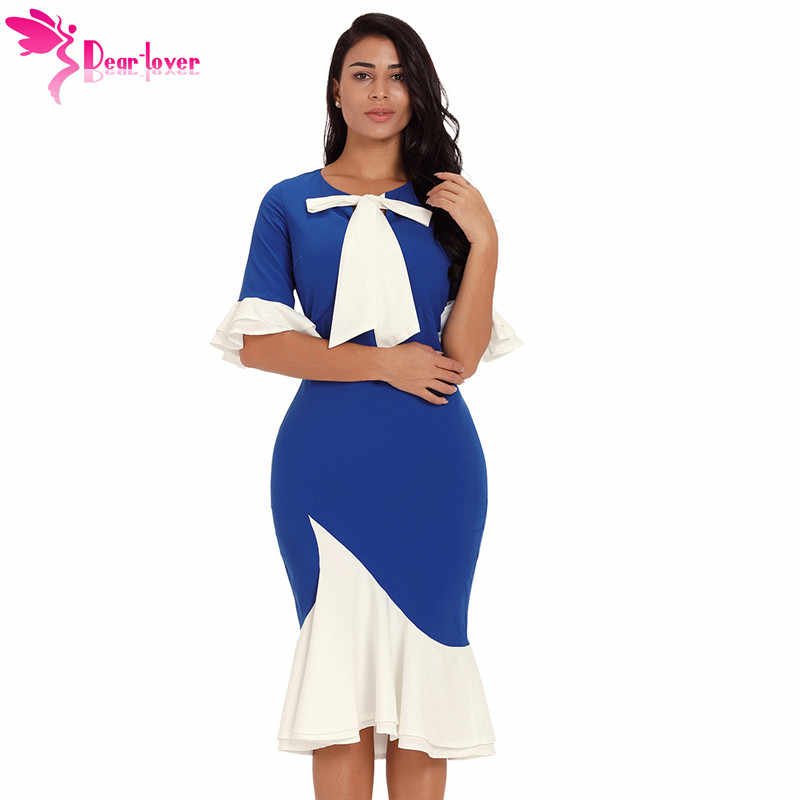 ... Women Office Dresses 2018 Autumn Blue Waist Pleats Rhinestone Detail  Slim Casual Midi Sheath. RELATED PRODUCTS. Dear Lover Bodycon Dresses 2018  Vintage ... 79fbf6e3a299
