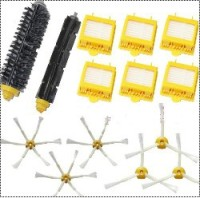 6 Hepa Filter Flexible Beater Bristle Brush Kit 6 Side Brush Kit For IRobot Roomba 700