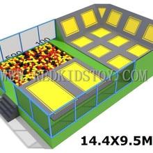 Экспортируется в Чили батуты для дома CE сертифицированный большой крытый батут для взрослых HZ-042b