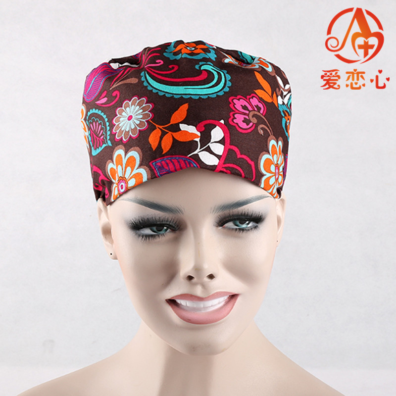 New Fashion Women Doctors and nurses Surgical caps Cotton Cap operation hat medical Hat cosmetologists baby-sitter   ALX-93  ai lianxin long hair surgical cap for long hair doctors and nurses 100% cotton bouffant caps