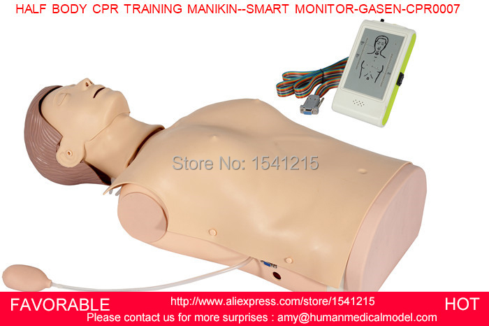 FIRST AID TRAINING MANIKIN, HALF BODY CPR ,MEDICAL MANNEQUIN AND HALF BODY CPR TRAINING MANIKIN--SMART MONITOR-GASEN-CPRM0007 adult cpr manikin first aid manikin healthcare simulations and advanced cpr training manikin display monitor gasen cprm0003