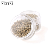 Neitsi Silicone Nano Ring Beads For Micro Loop Links Fusion Keratin Human Hair Extensions Light Brown