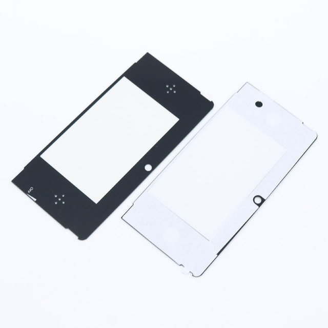2pcs Top Front LCD Screen Protector Plastic Cover Lens Replacement for Nintendo 3DS