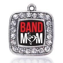 Группа Мама площадь Шарм старинное серебро покрытием Crystal Jewelry