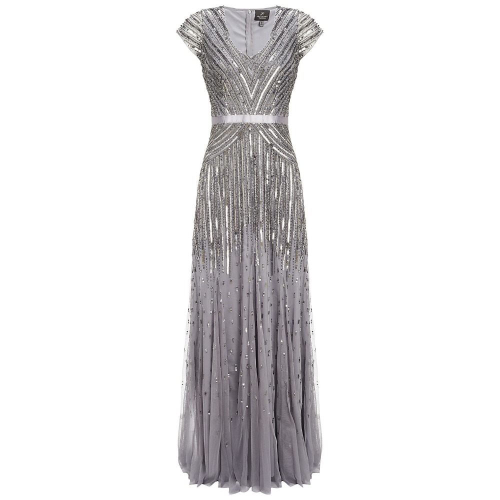 Luxury Great Gatsby Dress Gala With Sleeves Robe Kiyafet Crystal Party Gowns Online Boutiques Heavily Beaded Evening Dresses In From