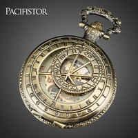 Reloj De Bolsillo PACIFISTOR, Reloj De pulsera mecánico con esqueleto para hombre, collar De Metal Steampunk antiguo, Reloj De regalo, Reloj De Bolsillo