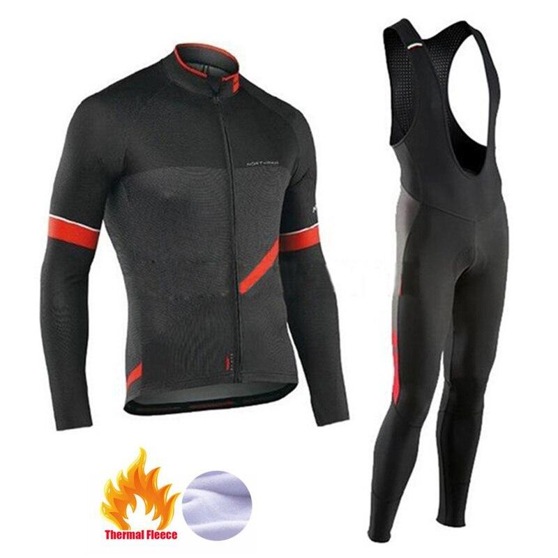 NW 2019 thermique hiver polaire cyclisme vêtements Northwave Jersey hommes épais costume équitation vélo vtt vêtements d'extérieur ensemble
