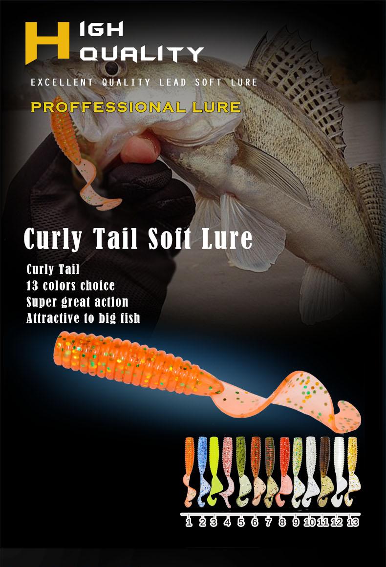 Afishlure 45 мм 1. 2 г вьющиеся grub искусственные Panfish фото