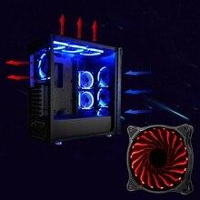 12V 3 Pin LED RGB Light 120mm PC CPU Case Cooling Fan Cooler Silent Heatsink New Colorful RGB LED Light 6 pin SATA For Intel DIY