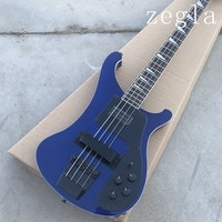 4 strings Electric Bass guitar in Trans Purple color with Flame Maple Top, Bass guitarra, All Color are Available