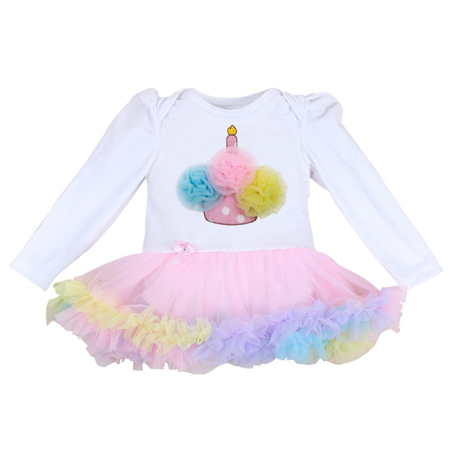 44fe1a9a6617 0 3 Months First Birthday Girl Tutu Set Newborn Clothing Baby Girl ...