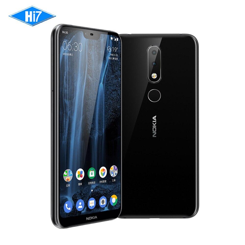 2018 Nouveau Nokia X6 6g RAM 64g ROM 3060 mah 16.0MP Avant Caméra Double Sim Android D'empreintes Digitales 5.8 Octa Core LTE Smart Mobile Téléphone
