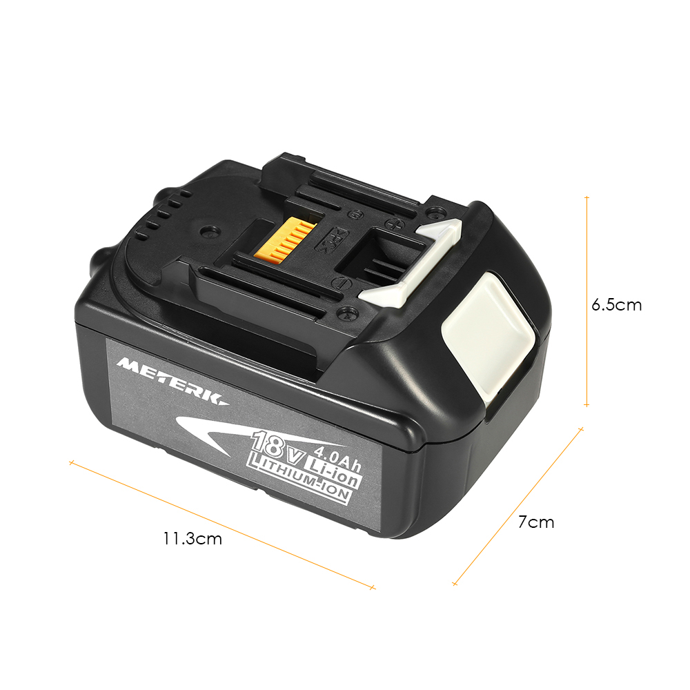 Meterk BL1840 18V 4.0Ah Power Tools Battery High Capacity Recharcheable Lithium replacement Battery Pack for MAKITA nanibon кардиган