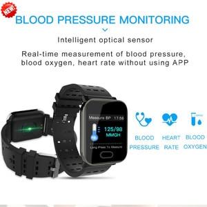 Image 2 - Pulsera inteligente Bluetooth pantalla táctil de Color grande reloj inteligente Correa extraíble de presión arterial para regalos iOS Android