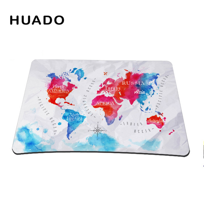 World Map Mouse Pad Gaming Mousepad 18 22cm Customized Gamepad