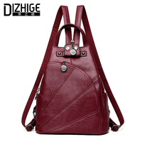DIZHIGE Brand Women Backpack Leather School Bags For Teenagers Girl Travel Bag Designer High Quality Famous