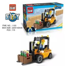 Enlightment 1103 City Series Farm Forklift Car Bricks Minifigures Building Block Toys Best Toys