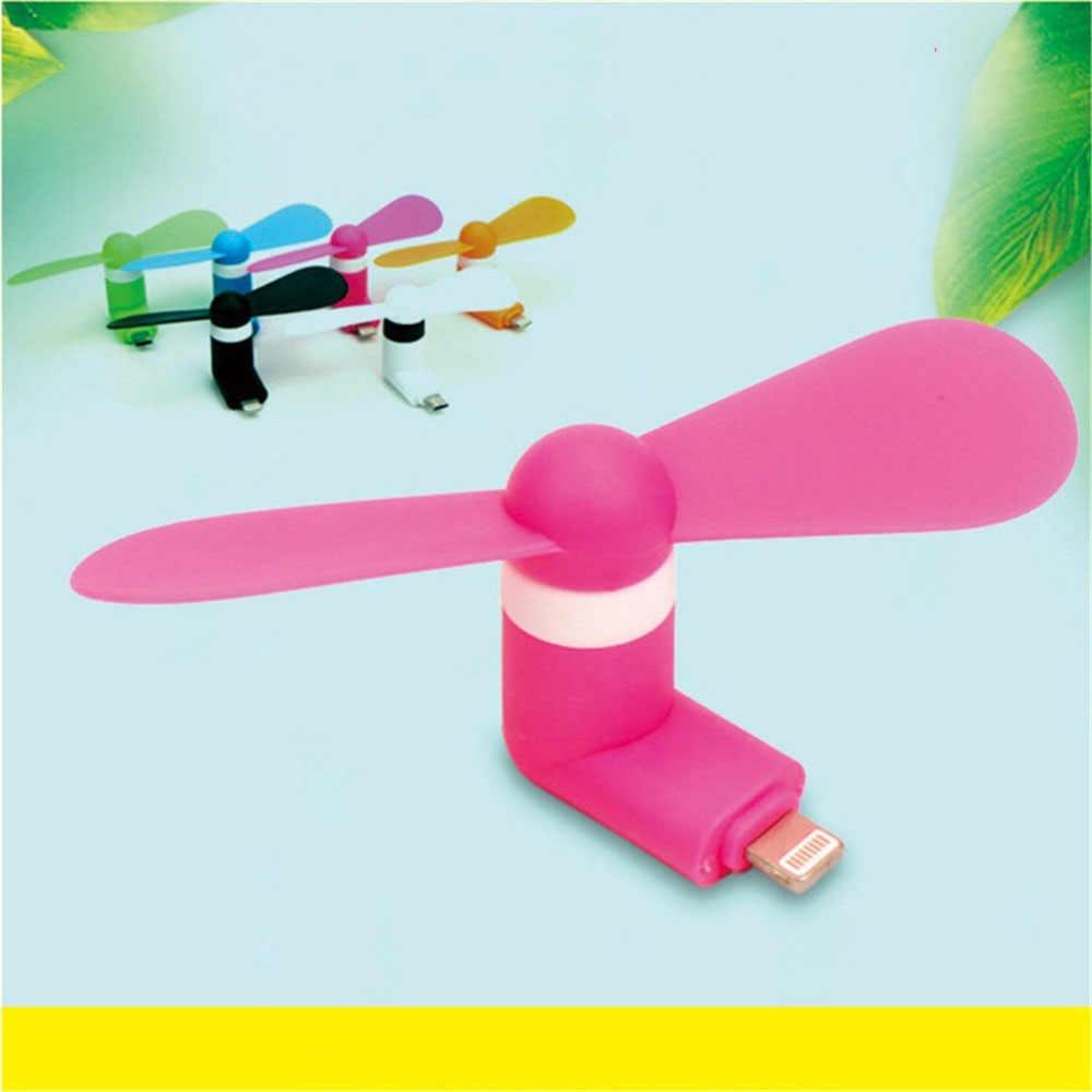 Портативный мини-вентилятор для путешествий для мобильного телефона, охлаждающий кулер для Micro USB для iPhone 5 5S SE 6 6s Plus 8 Pin iPhone 6s 7 s 8 Plus