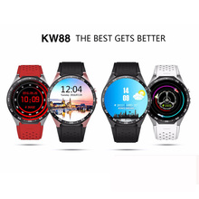 Smartwatch KingWear KW88 Smart Watch Android Bluetooth Smartwatch Phone 1.39 inch 400*400 support 3G wifi Heart Rate for Android