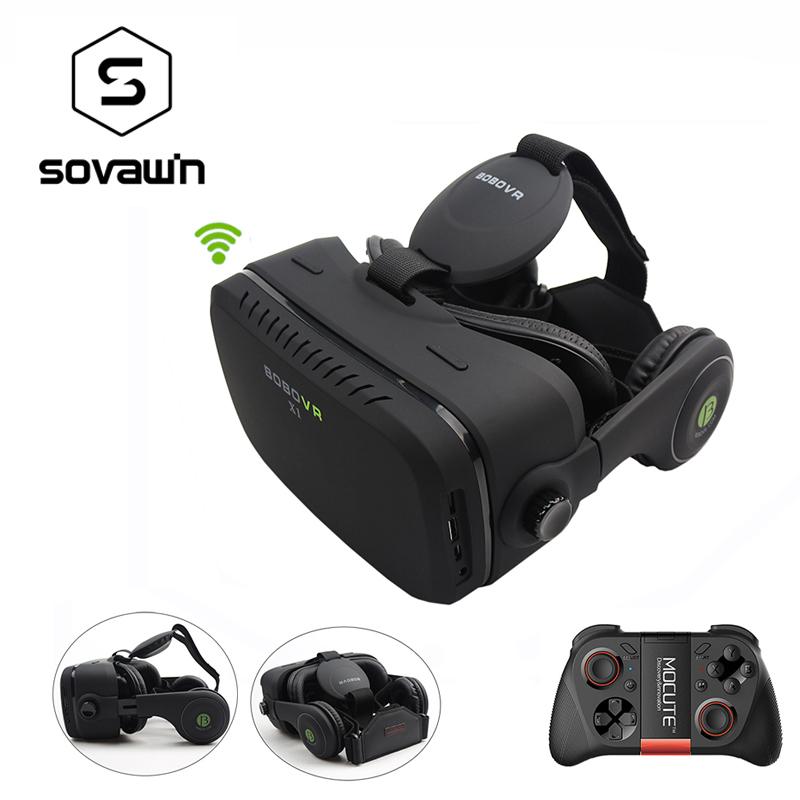 Prix pour Multi-langue bobovr x1 tout en un 3d lunettes de réalité virtuelle stéréo HDMI VR Smartphone Casque Boîte En Carton 32G ROM 2G RAM