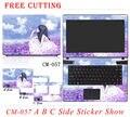 Горячие продажи Красочные Наклейки Ноутбук Этикеты Винила Стикер Личность Оболочки Случае Свободной Резки ProtectiveStickers Для HP 14 15