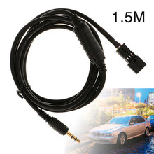 Mayitr 1pc 1.5M Car 3.5mm Male AUX Input Audio Adapter Universal to Cable For BMW BM54 E39 E46 E38 E53