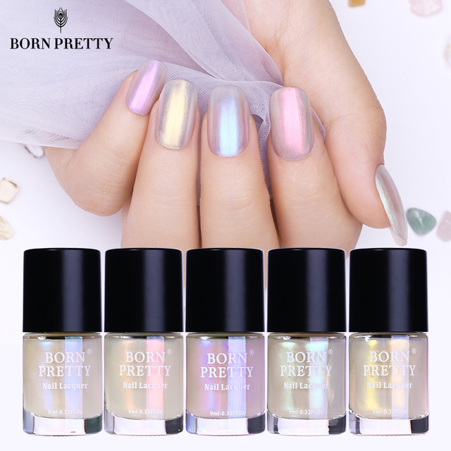 Born pretty shell glitter nail polish 9ml transparent glimmer born pretty shell glitter nail polish 9ml transparent glimmer shiny lacquer varnish manicure nail art polish prinsesfo Gallery