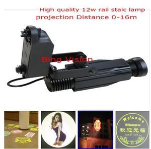 Высокое качество LED реклама изображения проекции лампы, led логотип проекции свет 12w железнодорожная проекционная лампа 5 цветов