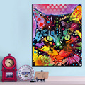 Large size Print Oil Painting Wall painting maine coon Home Decorative Wall  Art Picture Living Room paintng No Frame